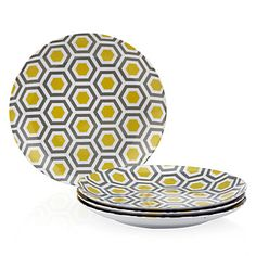 Sunny side up melamine dinnerware! Z Gallerie's Lemon Perspective Dinnerware, $19.80 - $27.80 per set