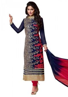 Women s Clothing - Party Wear Georgette Blue Salwar Kameez - - Style yourself with this marvelous attire designed beautifully to get you your desired ethnic look.Salwaar Suits - Party Wear Georgette Blue Salwar Kameez - - Style y Designer Suits Online, Designer Salwar Suits, Designer Dresses, Anarkali Dress, Anarkali Suits, Patiala Dress, Punjabi Suits, Churidar, Kurti
