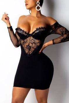 Through Eyelash Lace Backless Bodycon Dress Stylish party dresses Online,Party Dresses Stylish Dresses, Sexy Dresses, Fashion Dresses, Women's Fashion, Ladies Fashion, Sleeve Dresses, Tight Dresses, Party Fashion, Denim Dresses