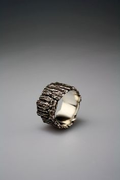 Bark Ring by dmdmetal on Etsy, $215.00