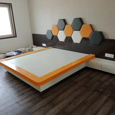 It's football desgin beauty fully bed Bedroom Cupboard Designs, Bedroom Closet Design, Bedroom Furniture Design, Modern Bedroom Design, Home Room Design, Bed Furniture, Bedroom Decor, Bed Back Design, Bedroom False Ceiling Design