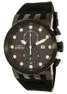 cc9006e90f2 Invicta Men s 10427 DNA Quartz Chronograph Black Dial Watch New