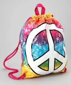 Take a look at this Confetti & Friends Tie-Dye Peace Drawstring Bag by Confetti & Friends on today! Tie And Dye, Tie Dyed, Tie Dye Bags, End Of Year Party, Shibori Tie Dye, String Bag, Bag Design, Friends, Daughters