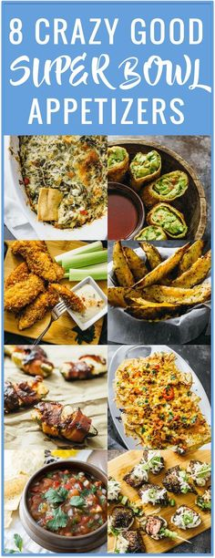 These super bowl appetizers are perfect for game day parties. Eat these delicious finger food dishes while watching your favorite football teams compete. These ideas are easy, healthy, quick, and absolutely delicious.