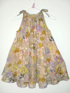 Vestido Bata godê infantil estampado