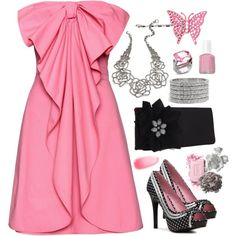 Pink & Flirty, created by smgilreath.polyvore.com