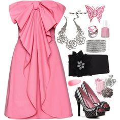Pink & Flirty, created by smgilreath.polyvore.com