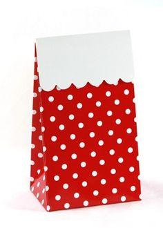 Red Polka Dot Treat Boxes (set of 12)