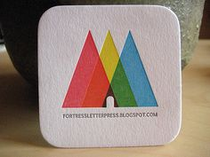 Square Business Cards Creative & Inspiring | personal note: clever use of ink blending