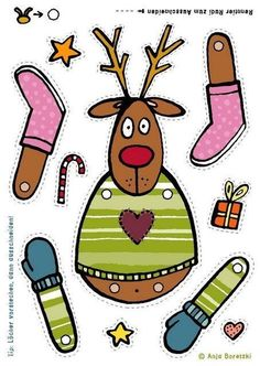 FREE printable reindeer rudolph template for kids Template tinker kids christmas jumping reindeer jumping jack reindeer Source by claudiarentke Childrens Christmas Crafts, Christmas Activities, Xmas Crafts, Christmas Printables, Christmas Projects, Paper Crafts, Diy Paper, Noel Christmas, Christmas Paper