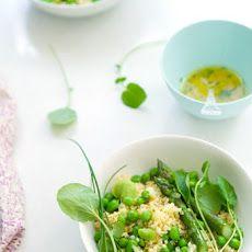 Millet With Steamed Spring Greens And Its Lemon Vinaigrette