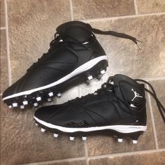 reputable site 1cced 03c11 Jordan Shoes   Nike Air Jordan Vii Retro 7 Td Football Cleats   Color   Black White   Size  Various