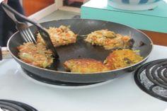 Kūtai (mussel) and kūmara fritters via MyFamily.kiwi