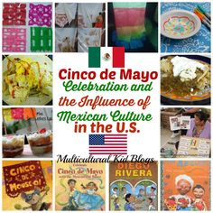 Cinco de Mayo - Celebration of the Influence of Mexican Culture in the U. - Discovering the World Through My Son's Eyes on Multicultural K. Quiet Time Activities, Spring Activities, Holiday Activities, Mexico For Kids, Learning A Second Language, Dual Language, Foreign Language, Spanish Teaching Resources, Hispanic Heritage Month
