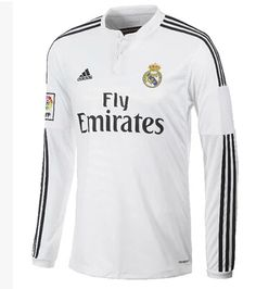 Real Madrid 2014-2015 maison manches longues maillots de football Real  Madrid 2014 545c84bbf9