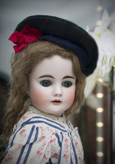 "23"" (58 cm.) Rare Antique German Sonnenberg Bisque Child Doll,224 by from respectfulbear on Ruby Lane"