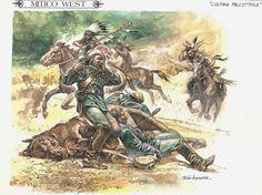 Art by Paolo Eleuteri Serpieri Plains Indians, Cowboys And Indians, American Indian Wars, Native American Indians, Jean Giraud, Battle Of Little Bighorn, Soldier Blue, Serpieri, Jordi Bernet