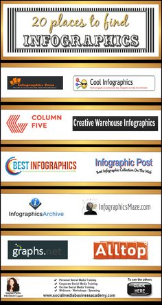 20 Places to Find #infographics