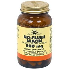 No-Flush Niacin 500mg - 100 - Veg/Cap