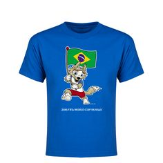 aa0bb3dcd64 Brazil 2018 FIFA World Cup Russia™ Zabivaka Youth T-Shirt (Royal)