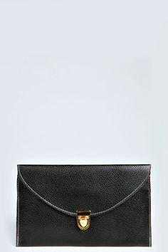 Lily Clasp Fasten Clutch Bag at boohoo.com