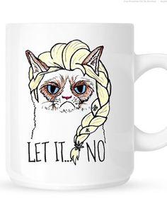 Grumpy Cat Elsa Mug - Let It No