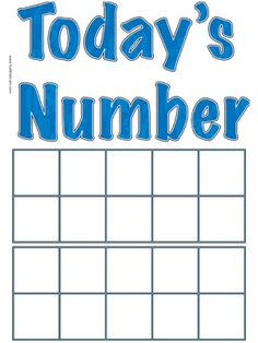 Today's Number Poster - Ten Frames | Fuel the Brain Printables...the new way to count days in school to correlate with CCSS.