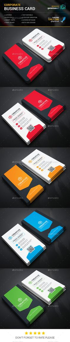 Creative Business Cards-2 - Corporate Business Card Template Vector EPS. Download here: http://graphicriver.net/item/creative-business-cards2/11907017?s_rank=1774&ref=yinkira