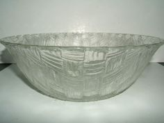 Indiana Glass clear Glass Basketweave Salad Bowl, vintage $19.99