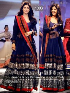 BUY SHILPA BLUE BOLLYWOOD REPLICA GOWN