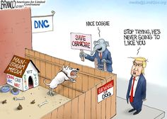 No matter how hard the GOP try to please the Mainstream media it's of no use, they are the attack dog for the DNC. Cartoon by Antonio F. Branco ©2017