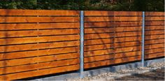 ... Wood Fence Designs | steel construction with horizontal wood railings