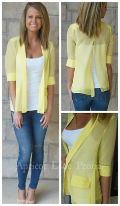 Love this blouse/blazer in one!  Available at our Peoria, IL location.