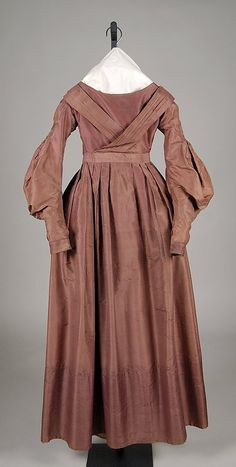 Wedding Dress, 1837-1840, silk, American. Met