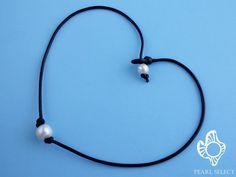11-12mm collar de perlas cuero regalo de cumpleaños por PearlSelect