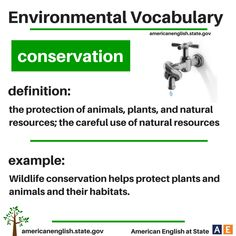 Environmental Vocabulary: conservation