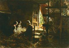 Giovanni Segantini - La raccolta dei bozzoli, 1881-1883 - Milano, Collezione Intesa Sanpaolo, Gallerie d'Italia - Piazza Scala | Artribune