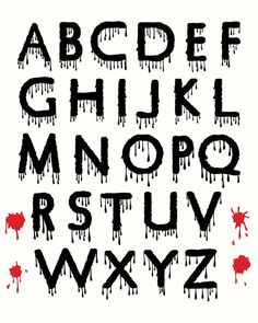 Digital Halloween Clipart Alphabet Dripping Blood Spooky Letters Set Spooky Alphabet Scary Black and Red Uppercase Letters Design Elements Sac Halloween, Halloween Fonts, Halloween Clipart, Halloween Letters, Halloween Signs, Halloween 2018, Graffiti Lettering Fonts, Script Lettering, Lettering Design