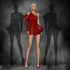 Fashion Model Sketch, Fashion Design Sketchbook, Fashion Design Drawings, Weird Fashion, Fashion Art, Fashion Models, Dress Illustration, Fashion Illustration Dresses, Geometric Fashion
