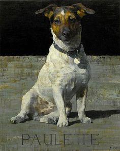 François Bard «~ Painting of a Jack Russell Animal Paintings, Animal Drawings, Art Drawings, Art And Illustration, Mundo Animal, Art Graphique, Dog Portraits, Dog Art, Pet Birds