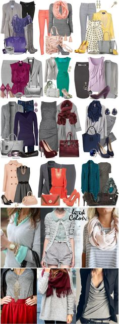 Grey the new black Office Outfits, Casual Outfits, Fashion Outfits, Womens Fashion, Fashion Trends, Work Fashion, Fashion Looks, Fashion Design, Pretty Outfits