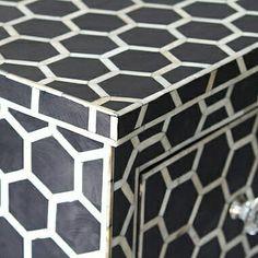 Honeycomb design for dresser