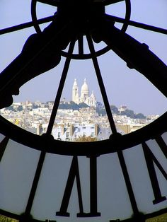 View of the Sacre-Coeur (Montmartre), from the Musée d'Orsay. Construction began in 1875 and was not completed until 1914, by which time the architect, Paul Abadie, was long dead.