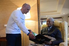 Hubert Freidl with Nelson Mandela in South Africa