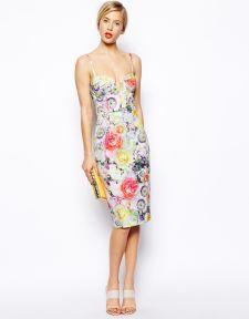 ASOS | ASOS Floral Bandeau Midi Dress at ASOS