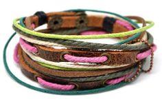 Mens Womens  Leather Bracelet Wristband cuff by braceletcool, $8.50