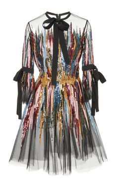 Short Embroidered Dress by ELIE SAAB for Preorder on Moda Operandi