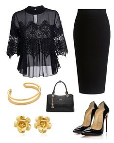 """""""chics"""" by mchlap on Polyvore featuring Theory, Jennifer Behr, A.P.C. and Christian Louboutin"""