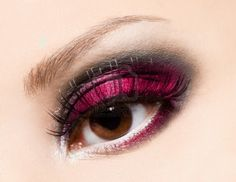 hot pink purple and black
