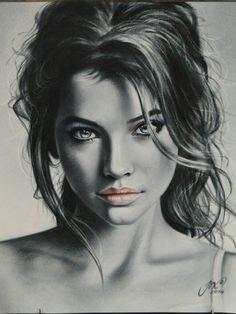Portrait Sketches, Pencil Portrait, Portrait Art, Realistic Pencil Drawings, Pencil Art Drawings, Horse Drawings, Sketch Painting, Digital Art Girl, Arte Pop